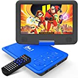 DR. J 11.5' Portable DVD Player with HD 9.5' Swivel Screen, Rechargeable Battery with Wall Charger, Car Charger and AV...