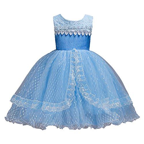 LZH Vestido de Dama de Honor para niñas, Vestido de Fiesta de Princesa de graduación
