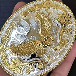 Belt Buckles Men New Eagle Belt Buckle Rodeo American Western 3D Gold Best Quality Men Women 1 Cowboy