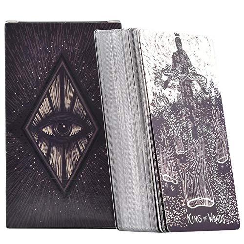 LPWCAWL Tarotkarten, Light Visions Tarot Cards, Divination Destiny Kartenspiel, Brettspiel Karte für Erwachsene und Kinder, 78 Karten, Englische Version