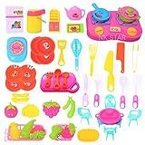 NK STAR Kitchen Set of 50 Pcs Toys Set - Educational Food Playset , Kitchen Set Toys for Kids Multicolor Kitchen Toys Plastic ( Set of 50 pcs )