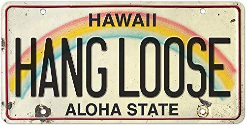 Vintage Hawaiian License Plate - Car Vehicle License Plate Souvenir...