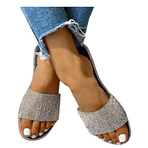 Sandals for Women Platform2020 Crystal Comfy Platform Sandal Summer Beach Travel Shoes Sandal Ladies Flip Flops Black