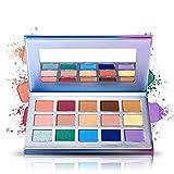 15 Eye shadow Palette Prism Makeup Matte Shimmer Pop Purple Blue Pigmented Glitter Eyeshadow Palette Makeup Pallet Cosmetics (EXOTIC PALETTE)