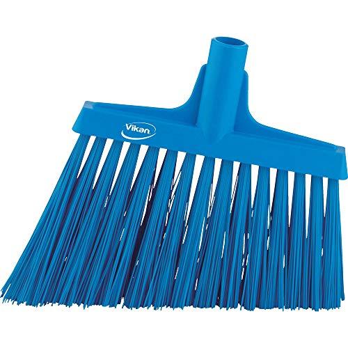 "Vikan 29143 Heavy Duty Sweep Floor Broom Head, PET Bristle, Polypropylene Block, 11"", Blue"