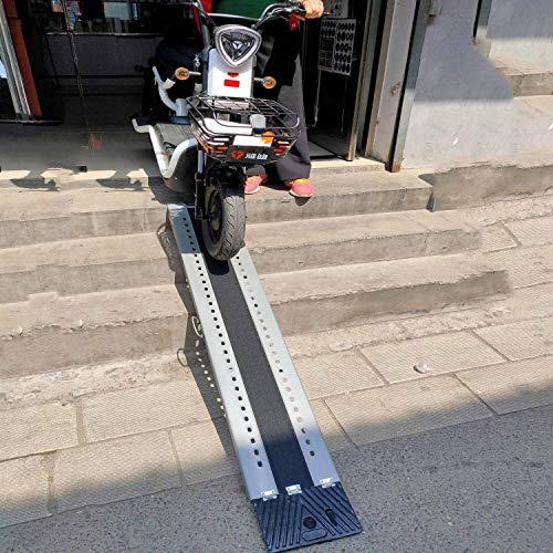 LLA Rampas Rampas Sin Barreras Individuales con Esmeril Antideslizante, Entrada De Escaleras para El Hogar/Hotel Rampa Portátil con Escalones, para Motocicletas Scooters (Size : 140×25×5cm)