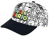 Super Mario Gorra Nintendo Villains, Negro-Blanco, Talla única para Hombre