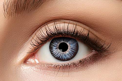 Eyecatcher 84088141-a07 - Natürliche Farbige Kontaktlinsen, 1 Paar, für 12 Monate, Blau, Grau, Karneval, Fasching, Halloween