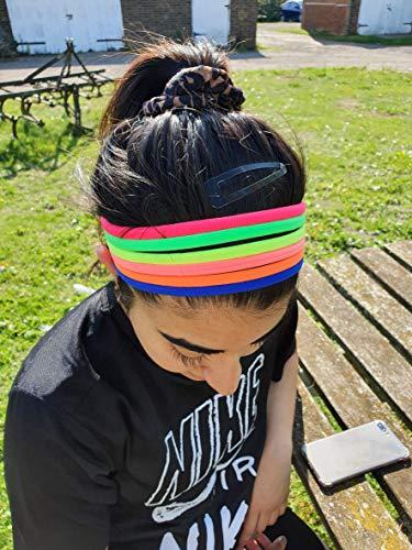 Fat-catz-copy-catz Lot de 6 bandeaux élastiques pour cheveux Style années 80 Couleurs fluo