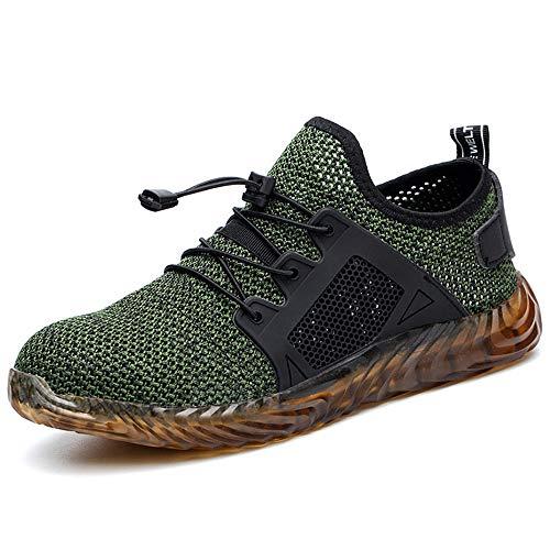 Zapatos de Seguridad para Hombre Zapatillas Deportivas de Mujer Puntera de Acero...