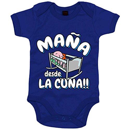 Body bebé Maña desde la cuna Zaragoza fútbol - Azul Royal, 6-12 meses