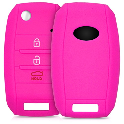 kwmobile Key Cover Compatible with Kia - Dark Pink