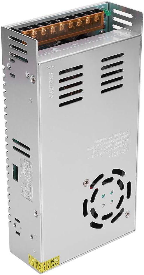 Adaptador de Controlador de Fuente de alimentación con Interruptor de 24 V DC, aleación de Aluminio CA a 24 V DC para Pantalla LED, CCTV, Radio, computadora(24 V / 20,8 A / 500 W)