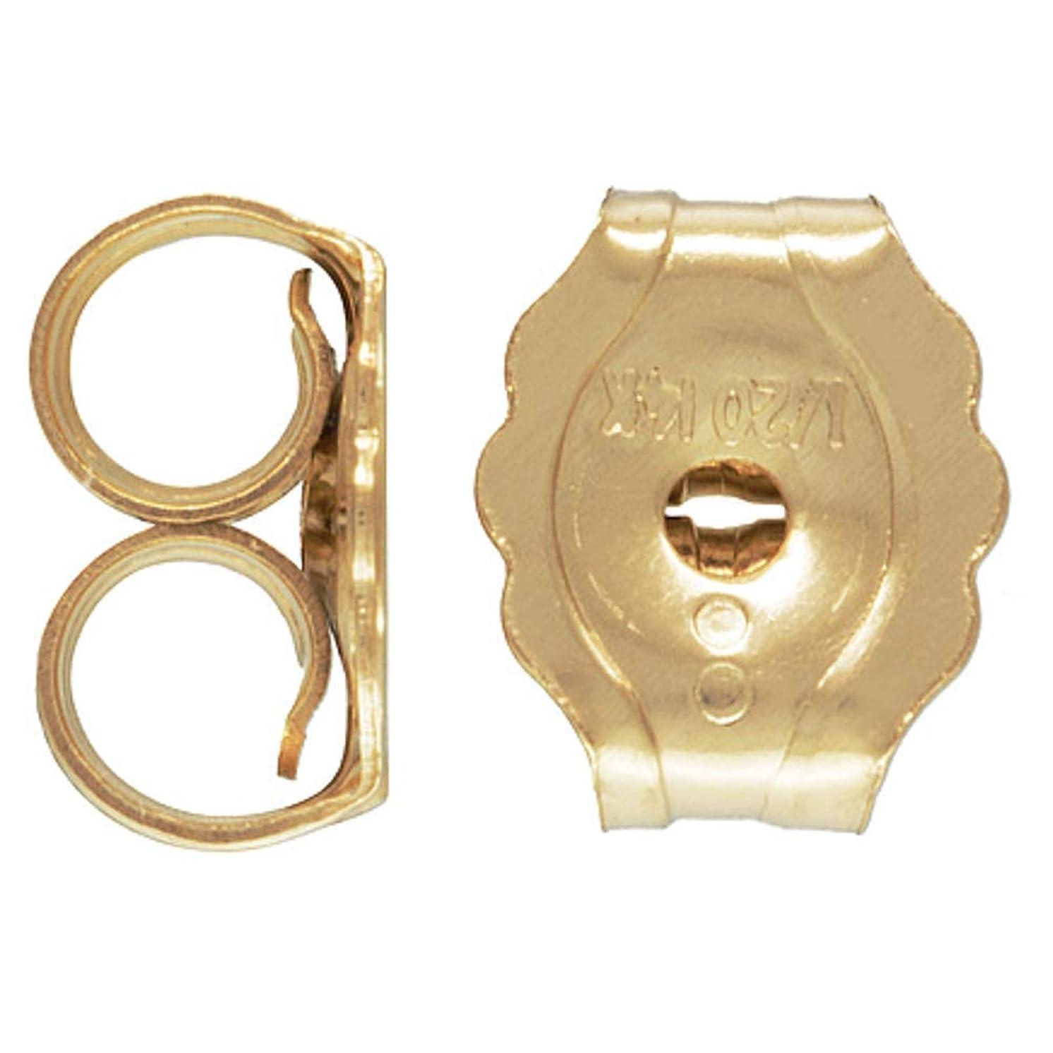JensFindings 50 Qty. 14k Gold Filled Earring Backs, Light & Small (4.6x3.8mm