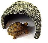 LLDKA Reptil Casa Evasión Aumento de la Altura del Agujero del Agujero de la Resina de simulación de procesos Roche Great Escape Acuario Reptil Casa