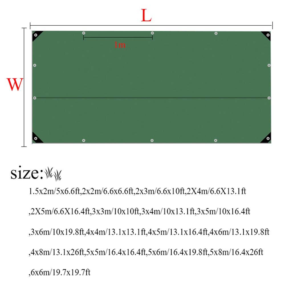 L-KCBTY Toldo Vela|Lonas Impermeables Exterior|Lona Funda Protectora|Lonas para Pergolas|Rectangular/Resistente A La Intemperie/con Ojales|Varias Dimensiones(Verde): Amazon.es: Hogar