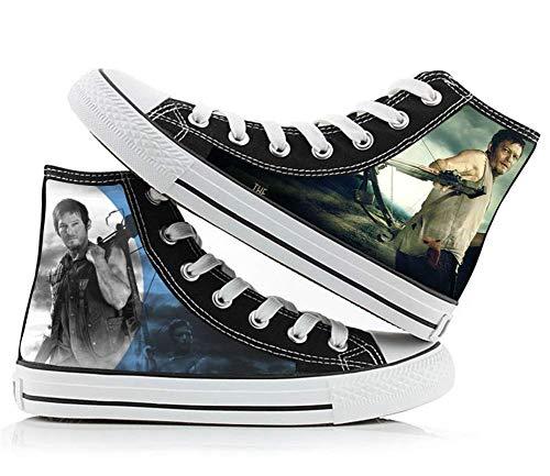 The Walking Dead Daryl Dixon Rick Grimes Cosplay Kostüm Cosplay Schuhe Segeltuch Sneaker, (Picture 6), 38.5/39 EU
