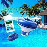 Dispensador Químico(Contiene tabletas de limpieza de 100 g), Flotador del Cloro, Dosificador de Cloro Flotante, Químicos Ajustable Flotador De Cloro para Piscina/Parque Acuático/SPA (2 Set)