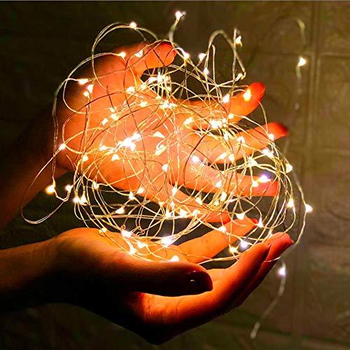 LED lumières guirlande décorative guirlande lumineuse fil de cuivre guirlande lumineuse fête d'anniversaire décoration guirlande lumineuse A1 3m30 leds batterie