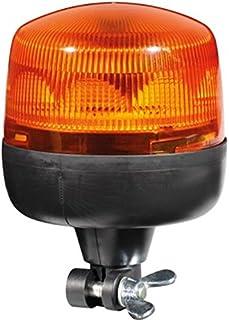 HELLA 010979011 RotaLED Flexible Mount Beacon Warning Light, Rotating Pattern, Waterproof, 12/24V, Amber