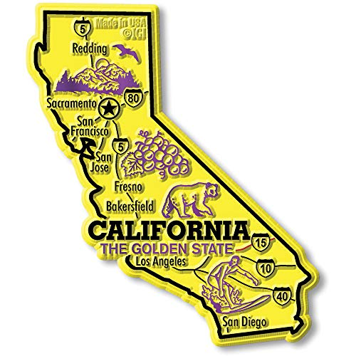 California Giant State Map Magnet
