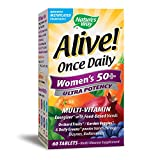 Nature's Way Alive! Once Daily Women's 50+ Multivitamin, Ultra Potency, Food-Based Blend, 60 Ta…