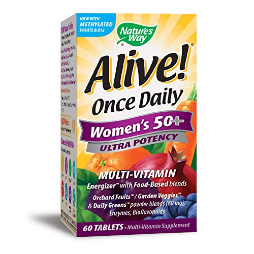 Nature 's Way Alive. Einmal täglich Damen 50 + Ultra Potenz Multivitamin, 60 Tabletten