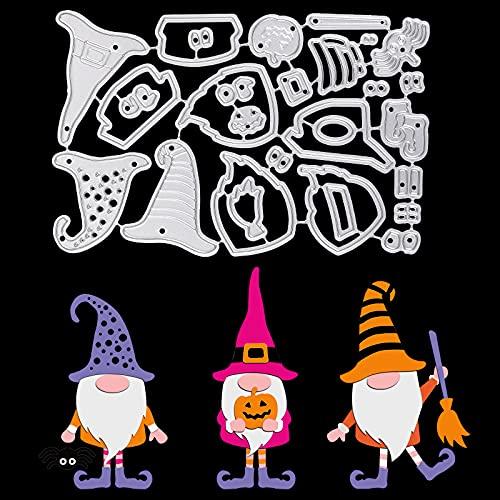OOTSR Troqueles de Corte Metal Troqueles Halloween, Plantillas de Troqueles de Corte Troqueles de Acero al Carbono para DIY Scrapbooking Manualidad Papel Hacer Tarjetas Decor