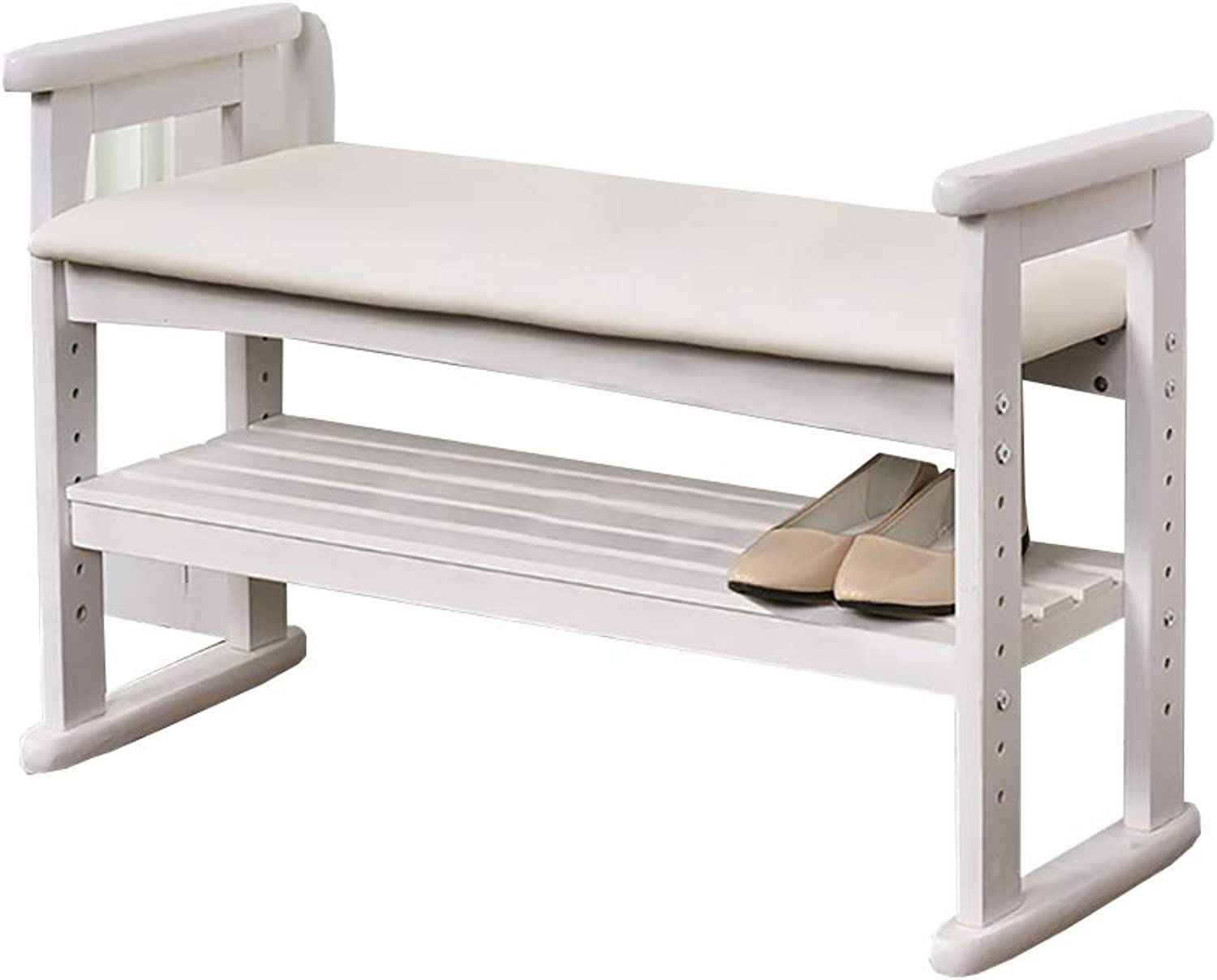 Change shoes Bench, Solid Wood Simple shoes Bench, Hall Stool, Sitting shoes Bench, 2 Sizes (Size   53  33  51cm)