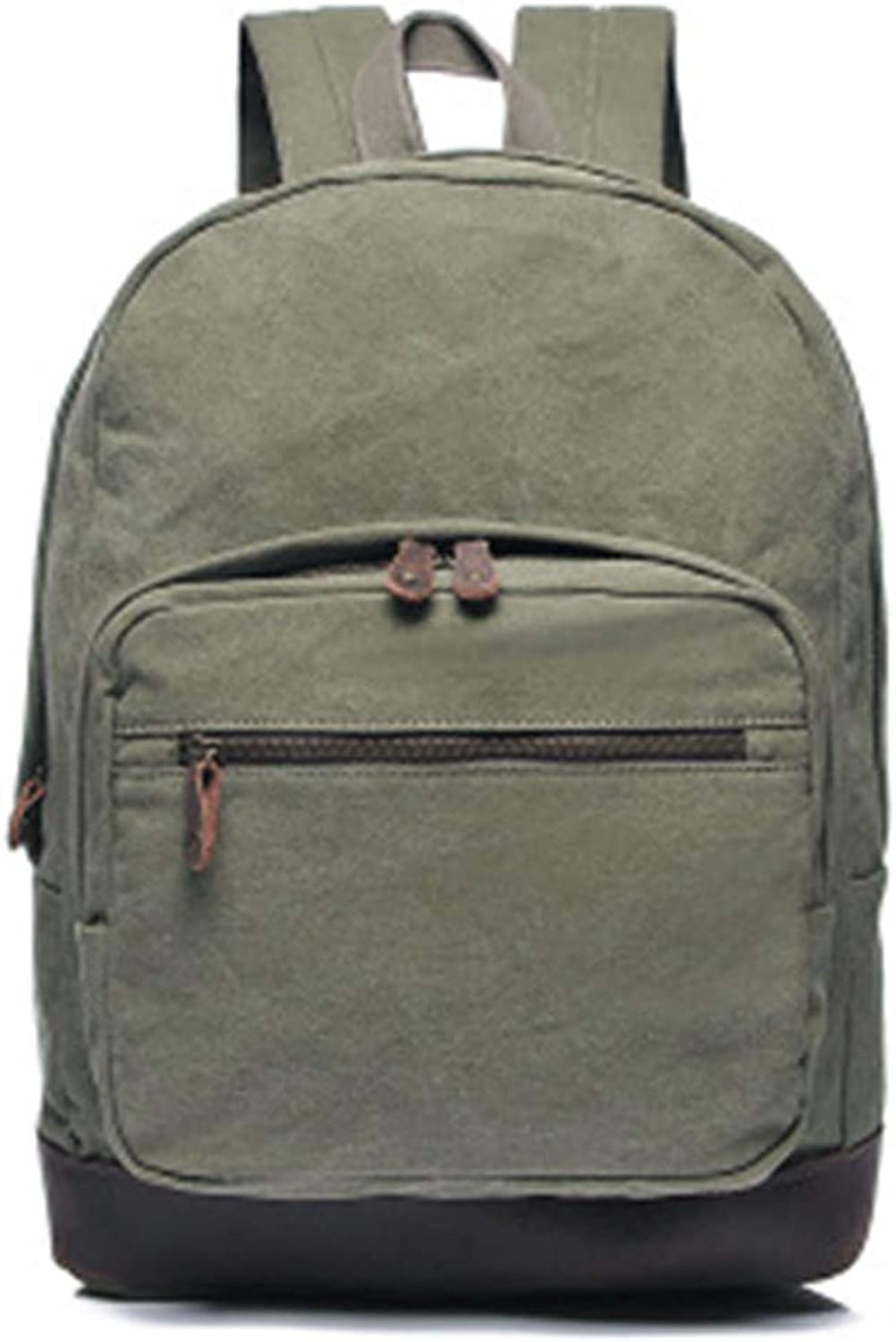 New Men's Bag Backpack Canvas Men's Backpack Retro (one Size, ArmyGreen)