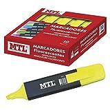 Dohe - Caja de marcadores fluorescentes - 10 uds - Amarillo