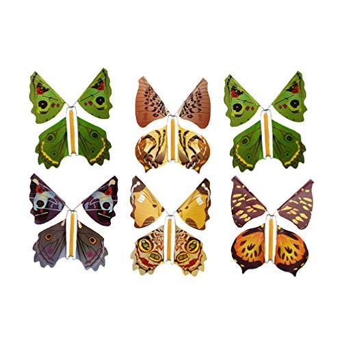 Toyvian Juguetes Divertidos de la Mariposa voladora Accesorios mágicos Que juegan al Aire Libre para niños Color Aleatorio 6 Piezas