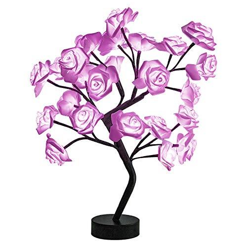 Hermoso ramo de rosas LED árbol lámpara de mesa luces de fiesta boda decoración del hogar regalo