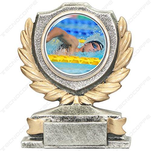 tecnocoppe Trofeo Nuoto h 12,00 cm Targhetta Personalizzata Omaggio