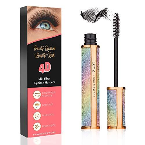 4D Silk Fiber Lash Mascara | Hypoallergenic, Cruelty-Free for Long Eyelash | All-day formula, No-hassle removal, No clumping, Waterproof Mascara | Smudge-proof fiber mascara