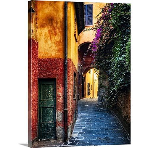 """GREATBIGCANVAS Portofino Alley Canvas Wall Art Print, Architecture Home Decor Artwork, 36""""x48""""x1.5"""""""