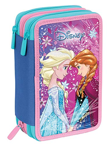 astuccio scuola elementare 3 zip bambina Astuccio 3 Zip Disney Frozen Ice Magic