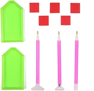 DIY Diamond Painting Tools PERTTY Sewing Accessories Handmade Diamond Cross Stitch Set With Quick Point Pen/Glue/Plastic Tray Set-10 Pieces