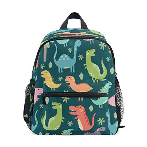 Cute Kid's Toddler Backpack Dinosaur Schoolbag for Boys Girls,Kindergarten Children Bag Preschool Nursery Travel Bag with Chest Clip(Funny Dinosaur)