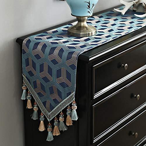 Yanxinenjoy Europese stijl tafelkleed, moderne minimalistische salontafel tafelkleed, theetafel TV kast stof, lange cover doek, stof thuis