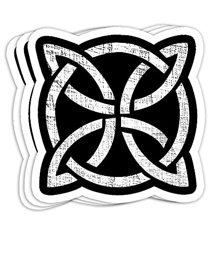 Celtic Shield Knot for Men, Women, Kids Gift Decorations - 4x3 Vinyl Stickers, Laptop Decal, Water Bottle Sticker (Set of 3)