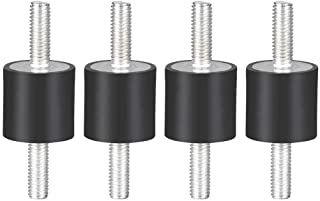 sourcing map 50 x 20mm Rubber Mounts,Vibration Isolators,Shock Absorber with M10 x 27mm Studs