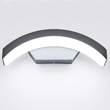Topmo-plus Lampe murale exterieur Luminaire mural Porche couloir garages terrasse / 24W LED OSRAM SMD IP65 aluminium/Eclairage mural gris 10,6 inch/blanc froid