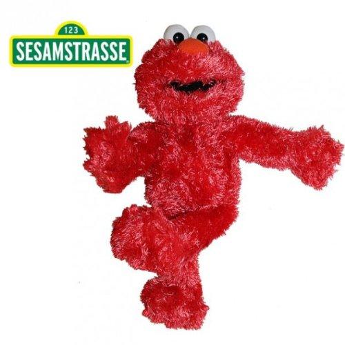 Sesamstraße Elmo | Handpuppe 35 cm | Plüsch Figur | Kuscheltier