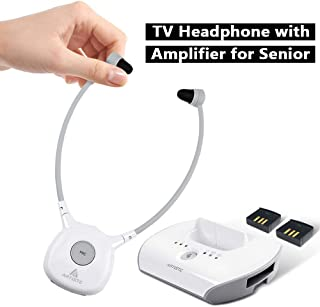 Artiste APH100 Wireless Headphones for TV, 2.4GHz Digital Wireless Hearing Assistance TV Listening Headsets System for Seniors with RF Transmitter Sound Clarifying TV Voice Amplifier