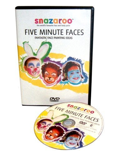Snazaroo Peinture pour visage Dvd Guide Five Minute Faces