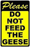 ガチョウに餌を与えないでください メタルポスター壁画ショップ看板ショップ看板表示板金属板ブリキ看板情報防水装飾レストラン日本食料品店カフェ旅行用品誕生日新年クリスマスパーティーギフト