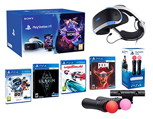 PlayStation VR2 MegaPack: Skyrim VR + Doom VR + WipEout + Astro Bot + VR Worlds + Paire Twin Move Controllers