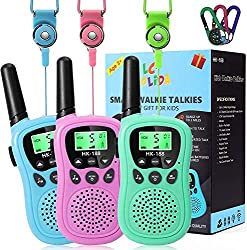 ☎[BEST GIFT FOR CHILDREN]: These walkie talkies for kids is perfect gift for 3-12 year old boys / girls, Lightweight body ergonomically designed to fit easily into the child's hands.Great for both indoor and outdoor activities such as going shopping,...