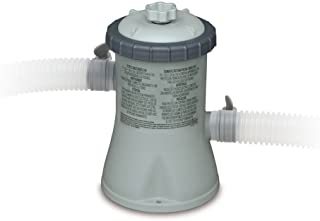 Intex Krystal Clear Cartridge Filter Pump for Above Ground Pools, 330 GPH Pump Flow Rate, 110-120V with GFCI